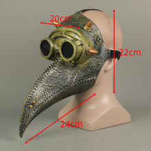 Load image into Gallery viewer, Steampunk Plague Doctor Bronze Long Mouth Cosplay Helmet Halloween Props