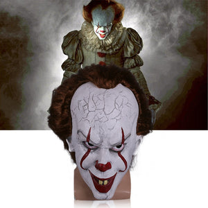 Stephen King's  helmet Pennywise Costume Joker helmet Tim Curry Horror helmet Cosplay Halloween