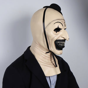 Terrifier Joker 2 Cosplay Halloween Party Costume Props Funny Evil Clown Hat Latex Helmet
