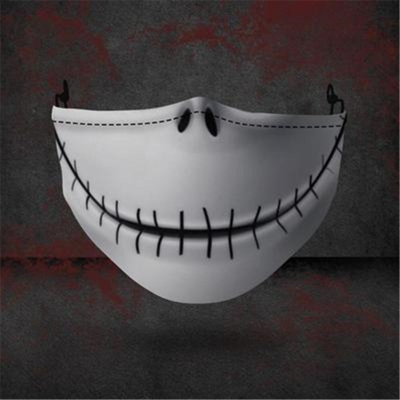 The Nightmare Before Christmas Pumpkin King  Jack Skellington Cosplay Halloween mouth-muffle