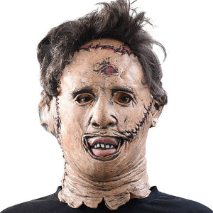 The Texas Chainsaw Massacre Leatherface helmet Scary Movie Cosplay Halloween Costume Props   Party Latex helmet