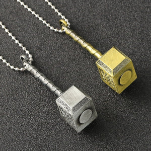 Marvel Avengers Thor Hammer Loki Necklace