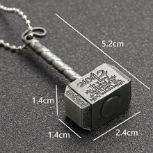 Load image into Gallery viewer, Marvel Avengers Thor Hammer Loki Necklace