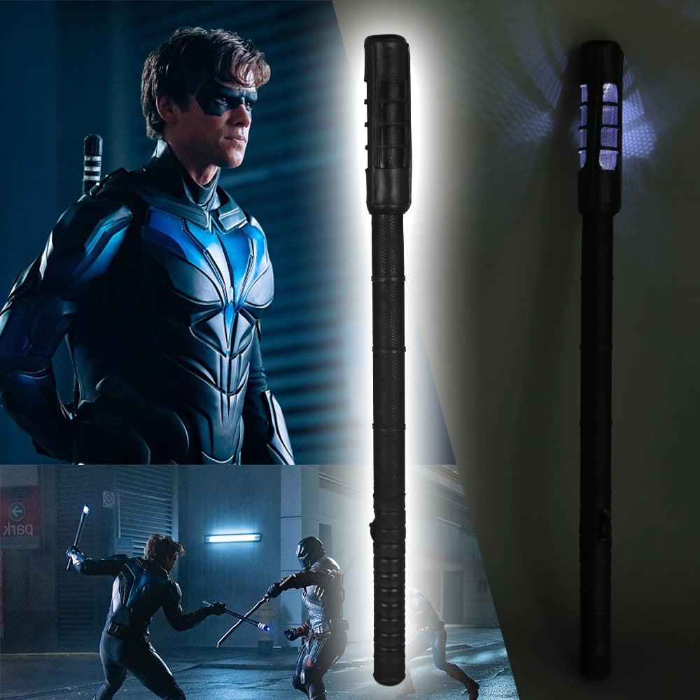 Titans Dick Grayson Robin LED Nightwings Sticks Cosplay Superhero Props