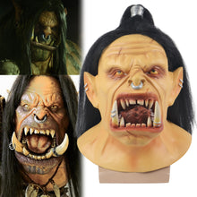 Load image into Gallery viewer, World of Warcraft Hellscream Cosplay Latex Helmet Halloween Props