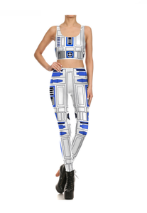 Star Wars Cosplay Costume for Women  Movie Robot Mujer Leggins Stretch tight suit