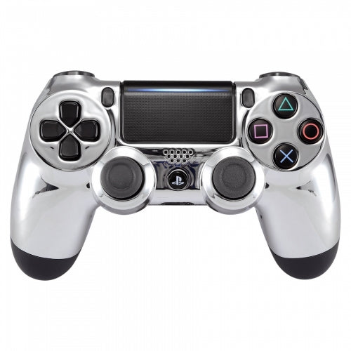 PS4 controller -Chrome Silver - DevineCustomz customized controllers repairs parts