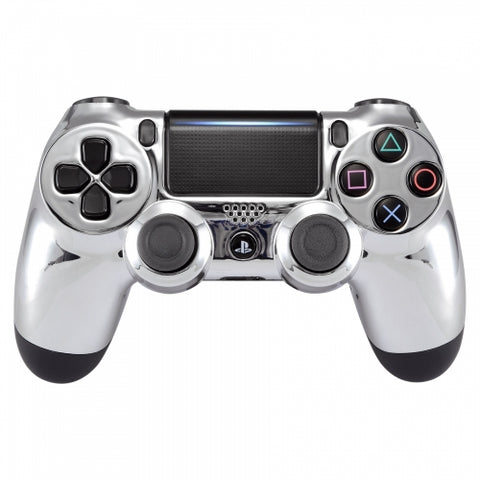 Customised PS4 controller Version 2 Chrome Silver - DevineCustomz customized controllers repairs parts