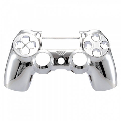 PS4 controller Front Shell -Chrome Silver - DevineCustomz customized controllers repairs parts