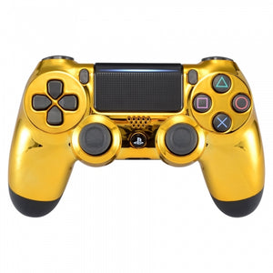 PS4 controller -Chrome Gold - DevineCustomz customized controllers repairs parts