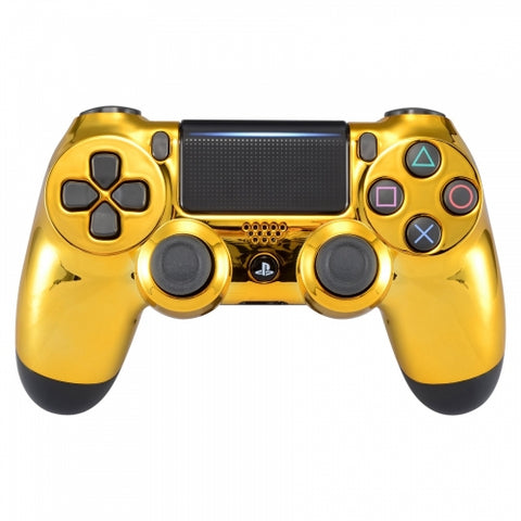 Customised PS4 controller Version 2 Chrome Gold - DevineCustomz customized controllers repairs parts