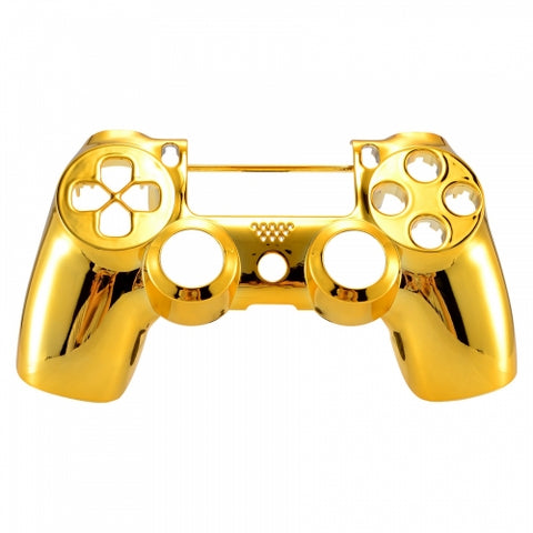 PS4 controller Front Shell -Chrome Gold - DevineCustomz customized controllers repairs parts