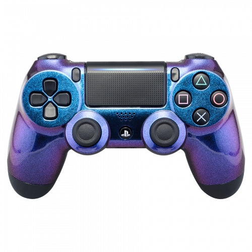 PS4 controller -Chameleon two tone Purple & Blue - DevineCustomz customized controllers repairs parts