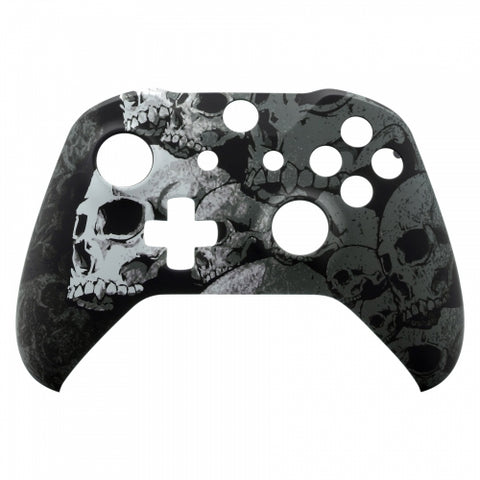 Xbox One Custom Black & White Skull Wireless Controller Front Shell - DevineCustomz
