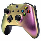 Xbox One Chameleon Two Tone Pink & Gold Controller Front Shell - DevineCustomz customized controllers repairs parts