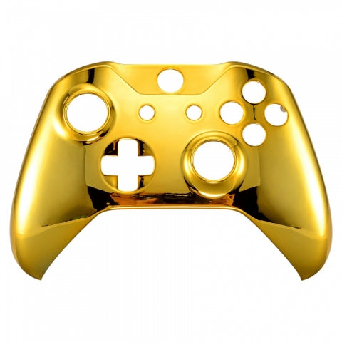 Xbox One Chrome Gold Wireless Controller Front Shell - DevineCustomz customized controllers repairs parts