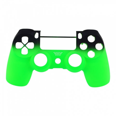 PS4 controller Front Shell -Green & Black Shadow Fade - DevineCustomz customized controllers repairs parts