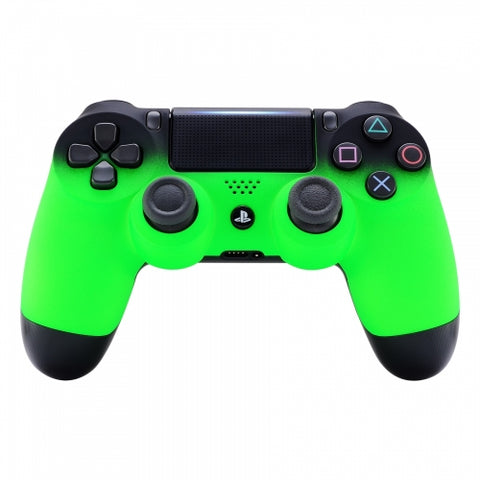 Customised PS4 controller Version 2 Green & Black Shadow Fade - DevineCustomz customized controllers repairs parts