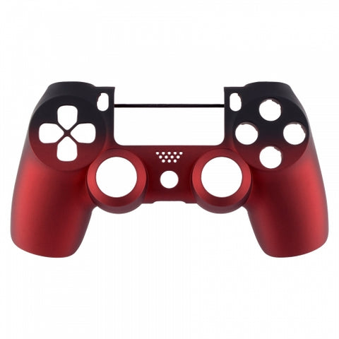 PS4 controller Front Shell- Red Shadow - DevineCustomz customized controllers repairs parts