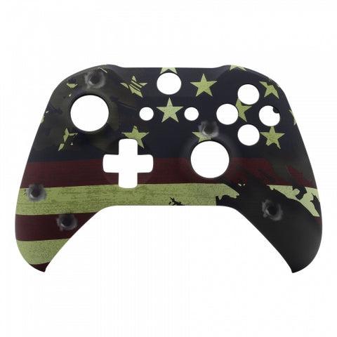 Xbox One US Flag Controller Front Shell - DevineCustomz customized controllers repairs parts