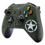 Xbox One Military Green Wireless Controller Front Shell - DevineCustomz customized controllers repairs parts