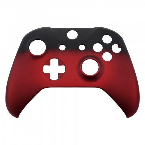 Xbox One Red Fade Wireless Controller Front Shell - DevineCustomz customized controllers repairs parts