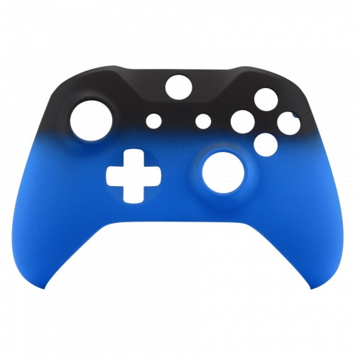 Xbox One Blue Fade Wireless Controller Front Shell - DevineCustomz customized controllers repairs parts