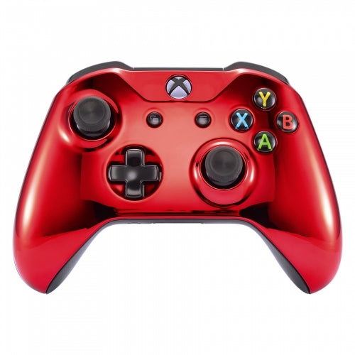 Xbox One Chrome Red Wireless Controller Front Shell - DevineCustomz customized controllers repairs parts