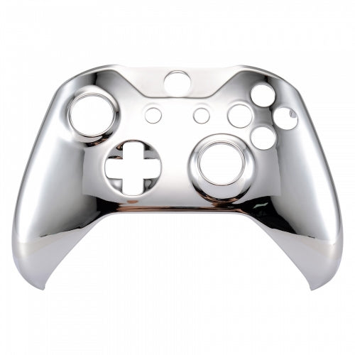 Xbox One Chrome Silver Wireless Controller Front Shell - DevineCustomz customized controllers repairs parts