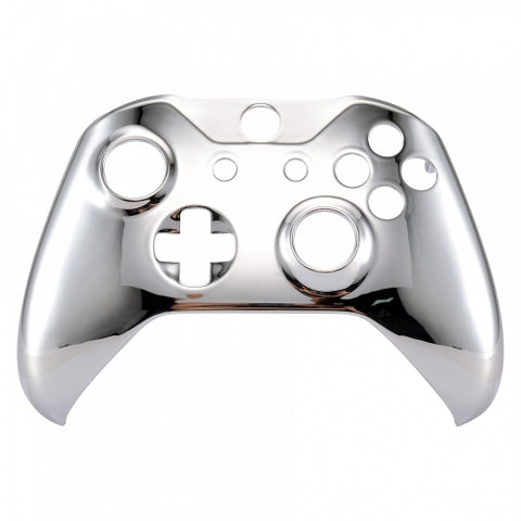 Xbox One Chrome Silver Wireless Controller Front Shell - DevineCustomz