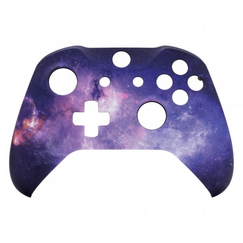 Xbox One Purple Galaxy Wireless Controller Front Shell - DevineCustomz customized controllers repairs parts