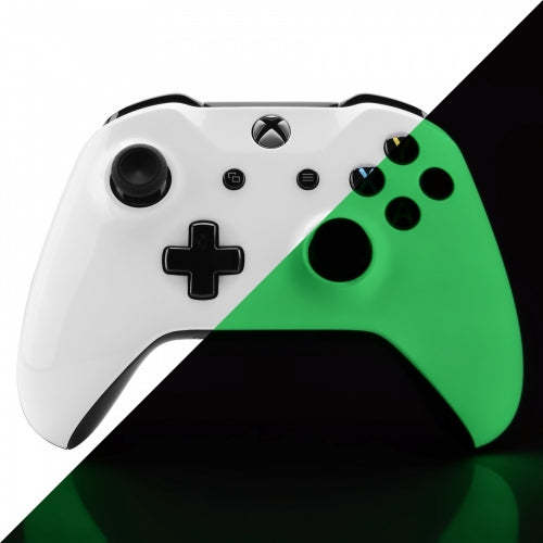 Xbox One Glow In The Dark Wireless Controller Front Shell - DevineCustomz customized controllers repairs parts