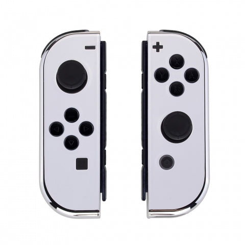 Nintendo Switch Joy-Con  Chrome Silver Shell - DevineCustomz customized controllers repairs parts