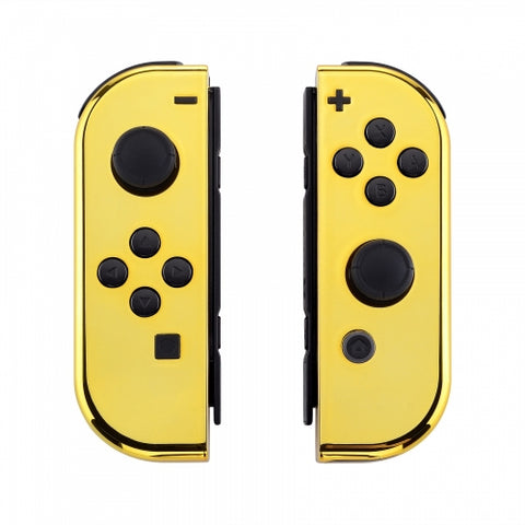 Nintendo Switch Joy-Con  Chrome Gold Shell - DevineCustomz customized controllers repairs parts