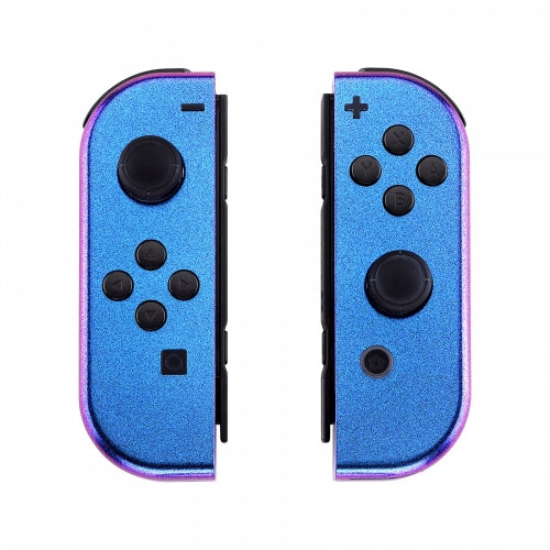 Nintendo Switch Joy-Con Chameleon Purple & Blue Shell - DevineCustomz customized controllers repairs parts