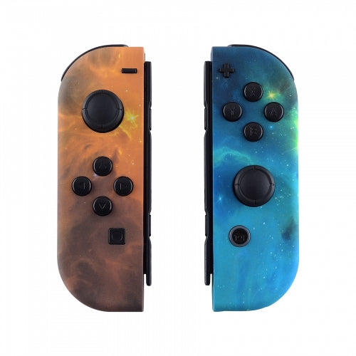 Nintendo Switch Joy-Con Blue & Orange Galaxy Shell - DevineCustomz customized controllers repairs parts