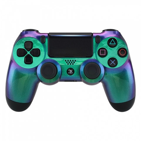 Customised PS4 controller Version 2 Chameleon Green & Purple - DevineCustomz customized controllers repairs parts