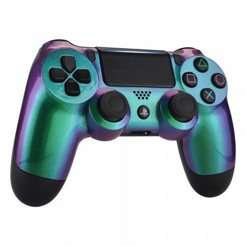 PS4 controller -Chameleon Green & Purple - DevineCustomz customized controllers repairs parts