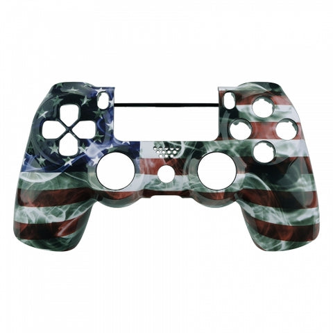 PS4 Controller Front Shell - US Flag - DevineCustomz customized controllers repairs parts