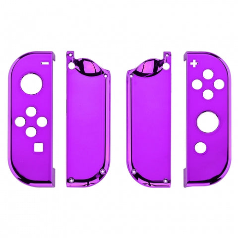 Nintendo Switch Joy-Con Chrome Purple Shell - DevineCustomz customized controllers repairs parts