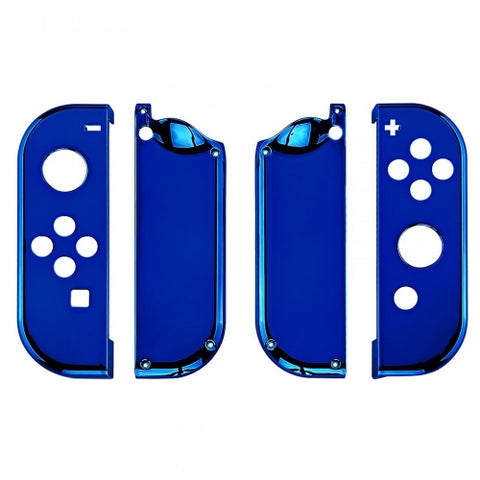 Nintendo Switch Joy-Con  Chrome Blue Shell - DevineCustomz customized controllers repairs parts