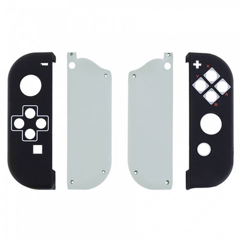 Nintendo Switch Joy-Con Black & White Shell - DevineCustomz customized controllers repairs parts