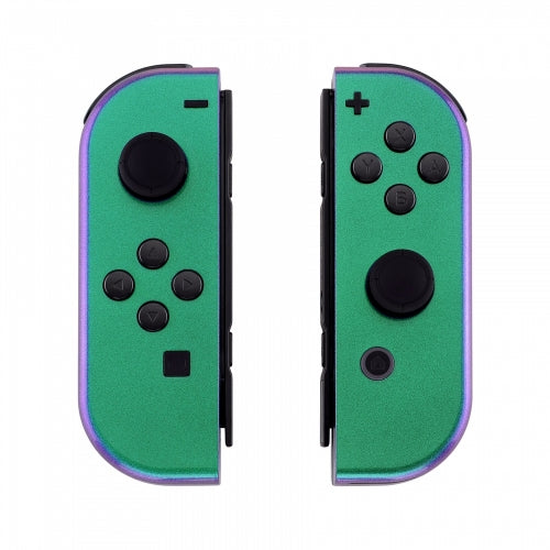 Nintendo Switch Joy-Con Chameleon Purple & Green Shell - DevineCustomz customized controllers repairs parts