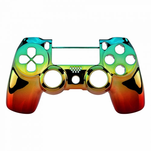 PS4 controller Front Shell -Green,Orange & Red Rasta Fade - DevineCustomz customized controllers repairs parts