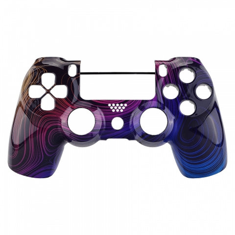 PS4 controller Front Shell - Rainbow Swirls - DevineCustomz customized controllers repairs parts
