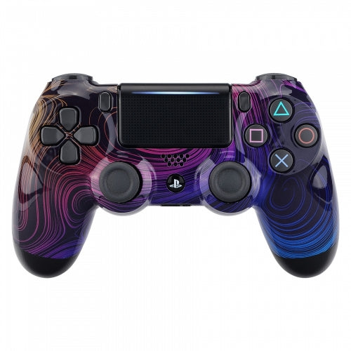 PS4 controller - Rainbows Swirls - DevineCustomz customized controllers repairs parts