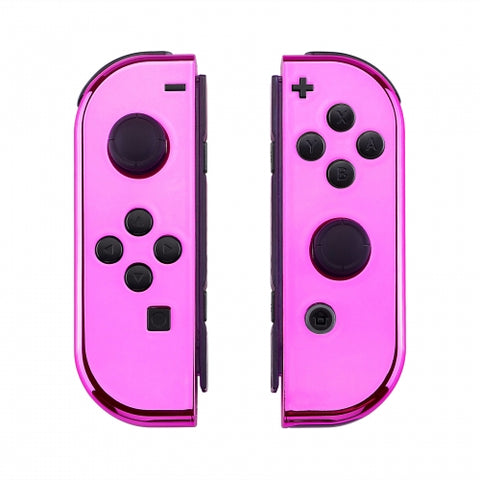 Nintendo Switch Joy-Con Chrome Pink Shell - DevineCustomz customized controllers repairs parts