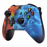 Xbox One Fire & Water Fusion Wireless Controller Front Shell - DevineCustomz