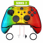 Xbox One Elite Series 2 Chrome Rasta Front Shell - DevineCustomz customized controllers repairs parts