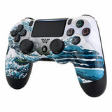 PS4 Controller Front Shell - White Sea Wave - DevineCustomz